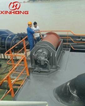 50T pull harrow suction boat