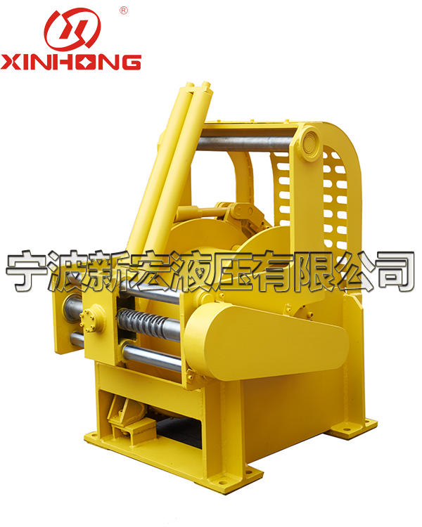 Special hydraulic winch for mobile electric hydraulic manned submersible cages in Fishing Bureau